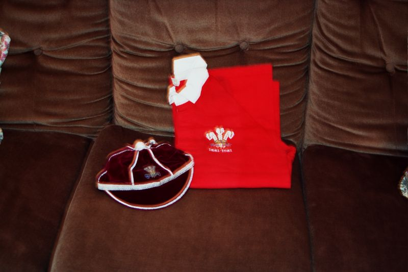 Gareth Williams' Welsh International Rugby Cap and jersey 1980