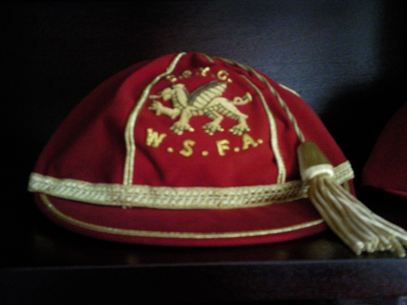 Lee Lucas' Welsh Schools Football Cap