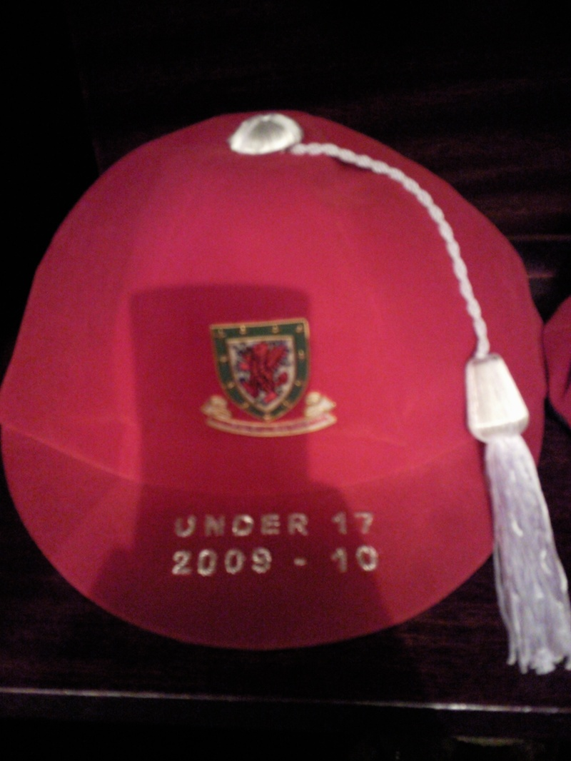 Lee Lucas' Welsh Under 17 Football Cap 2009-10