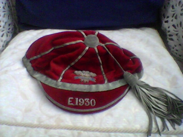 Welsh Schools Rugby Cap v England 1930