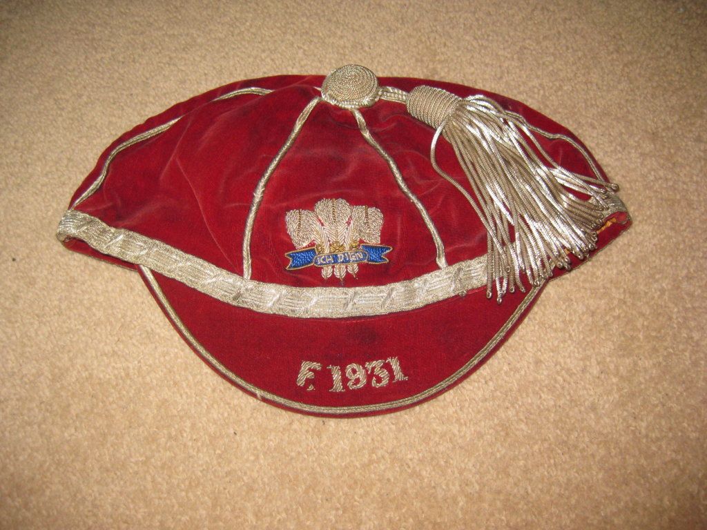 Welsh Schools Rugby Cap v France 1931