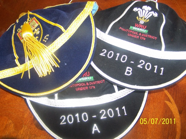 Junior Welsh Rugby caps