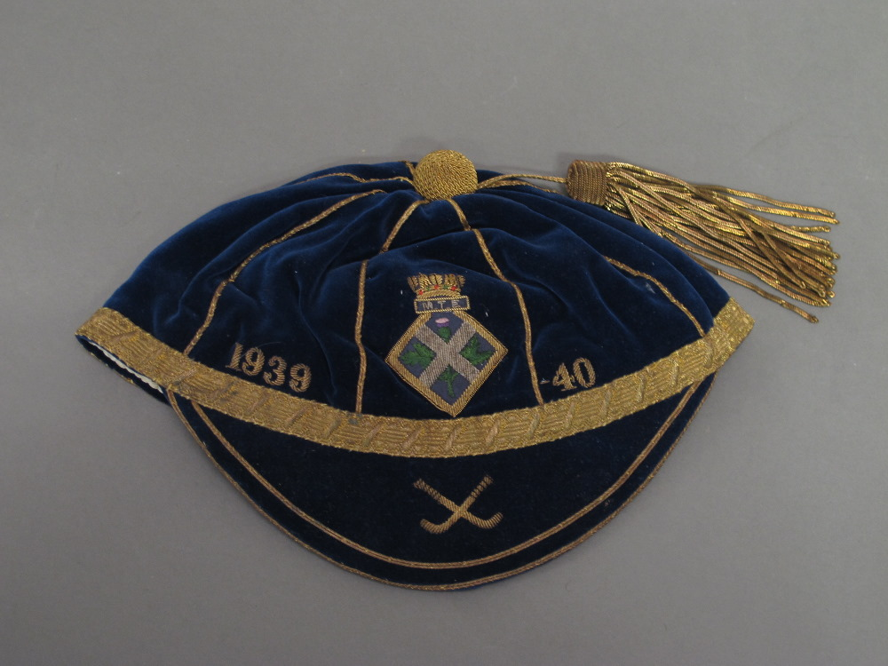 Scottish Hockey Honours Cap 1939-40