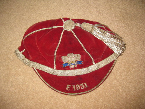 Wales Youth Rugby cap v France 1931